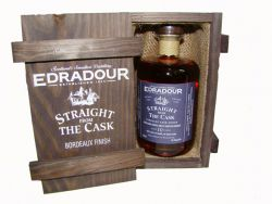 Edradour 1998 10 Jahre Bordeaux Wood Matured in Holzkiste 0,5 Liter