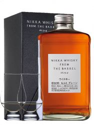 Nikka Whisky From the Barrel Blended Whisky 0,5 Liter + 2 Glencairn Gläser + Einwegpipette 1 Stück