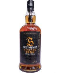 Springbank 1996 Fino Sherry Cask Single Malt Whisky 0,7 Liter