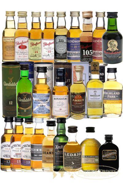 adventskalender premium mit 24 verschiedenen whisky miniaturen. Black Bedroom Furniture Sets. Home Design Ideas