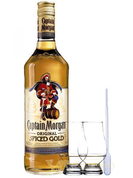 captain morgan spiced gold jamaika 1 0 liter 2 glencairn. Black Bedroom Furniture Sets. Home Design Ideas