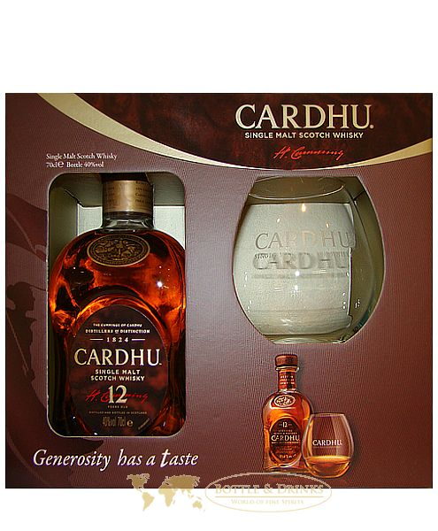 cardhu 12 jahre single malt whisky mit glas in gp 0 7 liter bottle drinks whisky rum. Black Bedroom Furniture Sets. Home Design Ideas