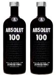 Absolut 100 Vodka 50 % - 2 x 100cl