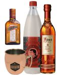 Goldberg The Big Buck Set mit 1 x Asbach 8 Jahre 0,7 Liter, 1 x Thomas Henry Spicy Ginger 1,0 Liter, 1 x Cointreau 0,35 Liter und Goldberg Trinkbecher