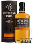 Highland Park 12 Jahre Single Malt Whisky Islands 0,7 Liter + 2 Glencairn Gläser