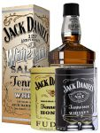 Jack Daniels White Rabbit 0,7 Liter + 300g JD`s HONEY Fudge & 300g JD`s Whisky Malt Fudge + 2 Glencairn Gläser und Einwegpipette