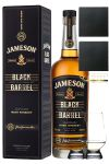 Jameson Select Reserve Black Barrel Small Batch 0,7 Liter + 2 Glencairn Gläser und 2 Schiefer Glasuntersetzer 9,5 cm
