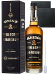 Jameson Select Reserve Black Barrel Small Batch 0,7 Liter + 2 Schieferuntersetzer 9,5 cm + Einwegpipette 1 Stück
