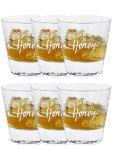 Jim Beam Honey Tumbler 6 er Karton mit Eichstrich