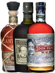 Rum Dreier Set: Botucal 12 Years, Plantation XO und Don Papa 0,7 Liter