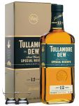 Tullamore Dew 12 Jahre Irish Single Malt Whiskey 0,7 ltr.+ 2 Glencairn Gläser